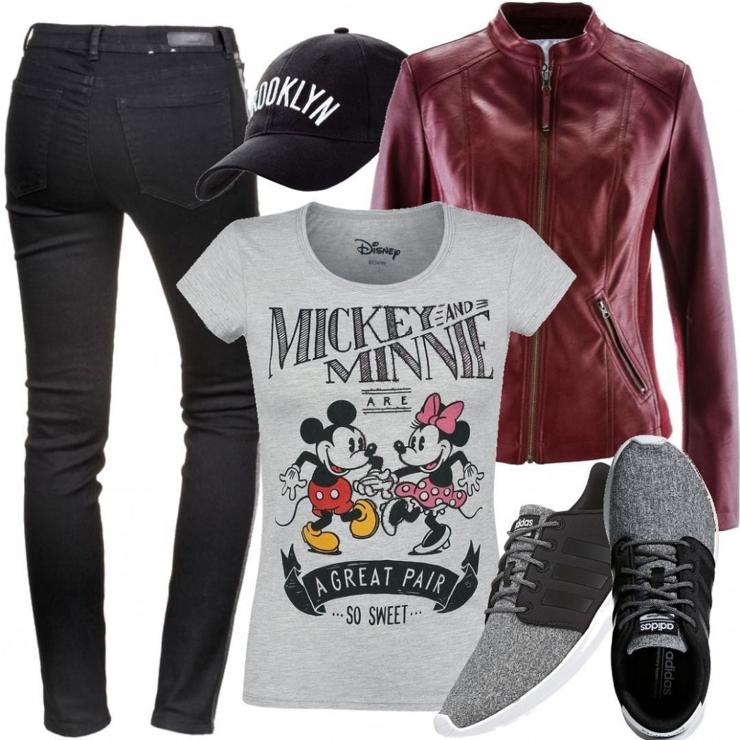 Micky Maus - Mickey & Minnie Mouse - A Great Pair - T-Shirt - grau