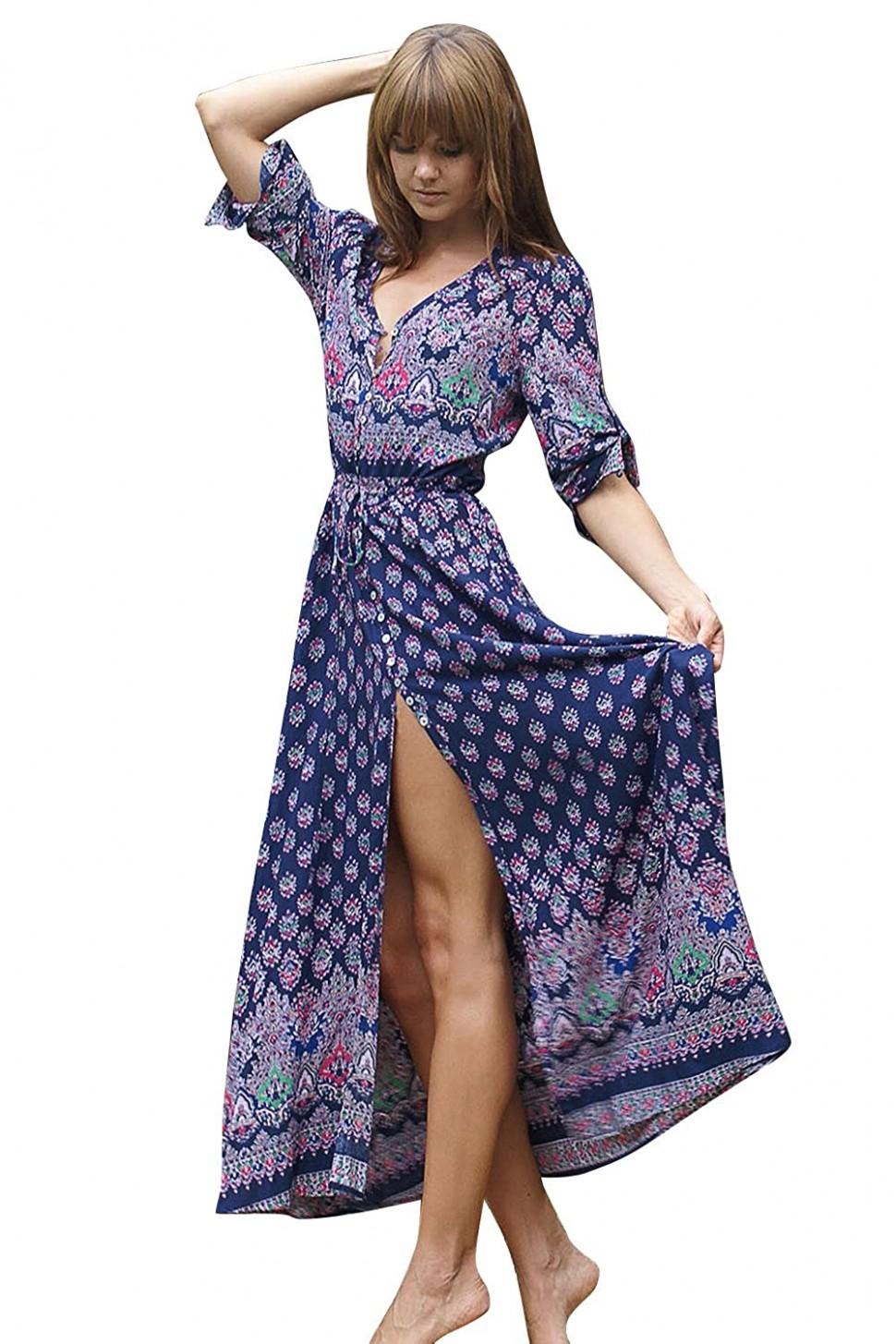 10%OFF INFLATION Damen Casual Lange Kleid Sommer Partykleid
