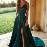 A&n Luxe Lucia Satin Gown Teal #gown #lucia #luxe #satin #teal Satin Kleid Lang