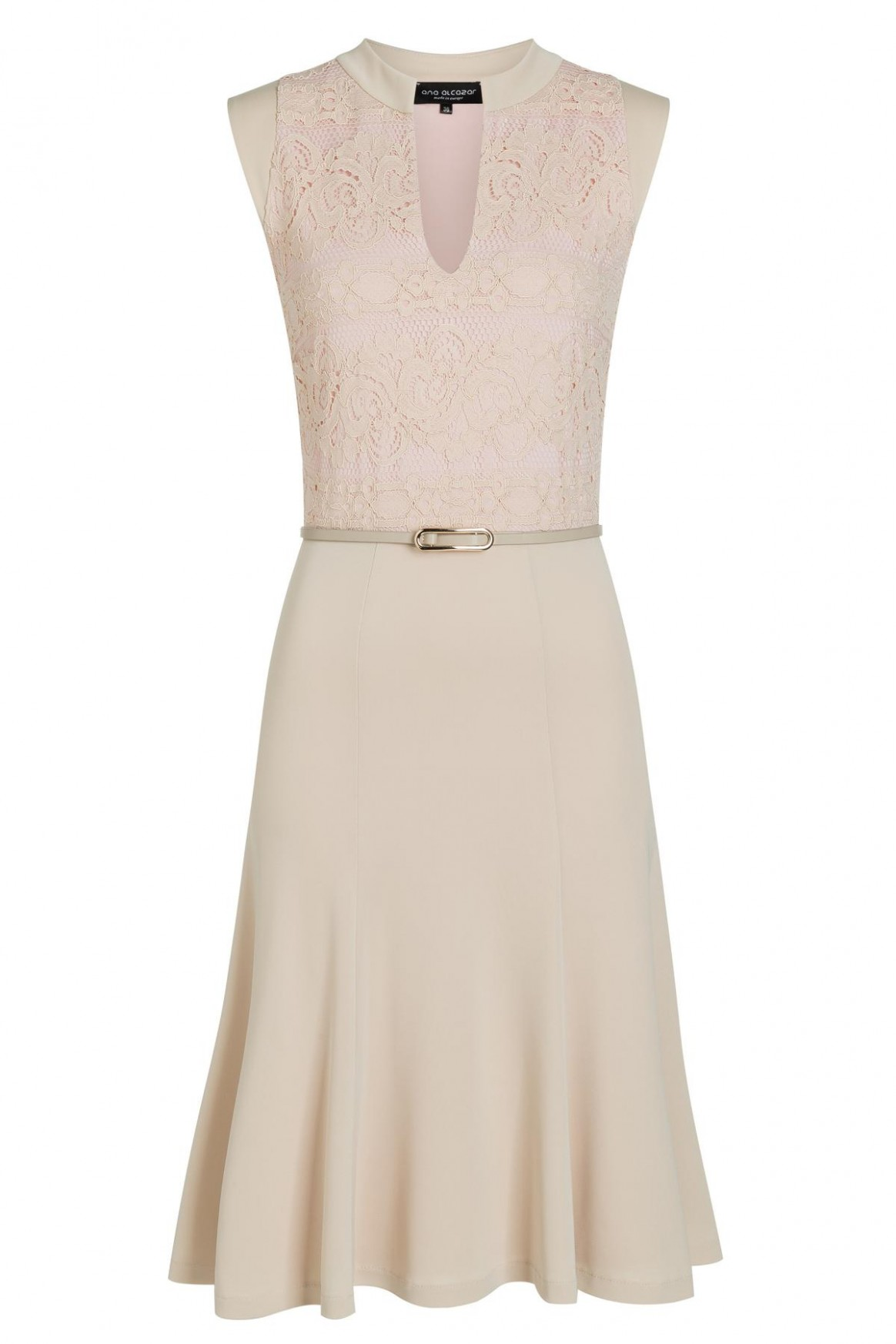 beige mix dress taggy from lace and jersey ana alcazar beiges kleid