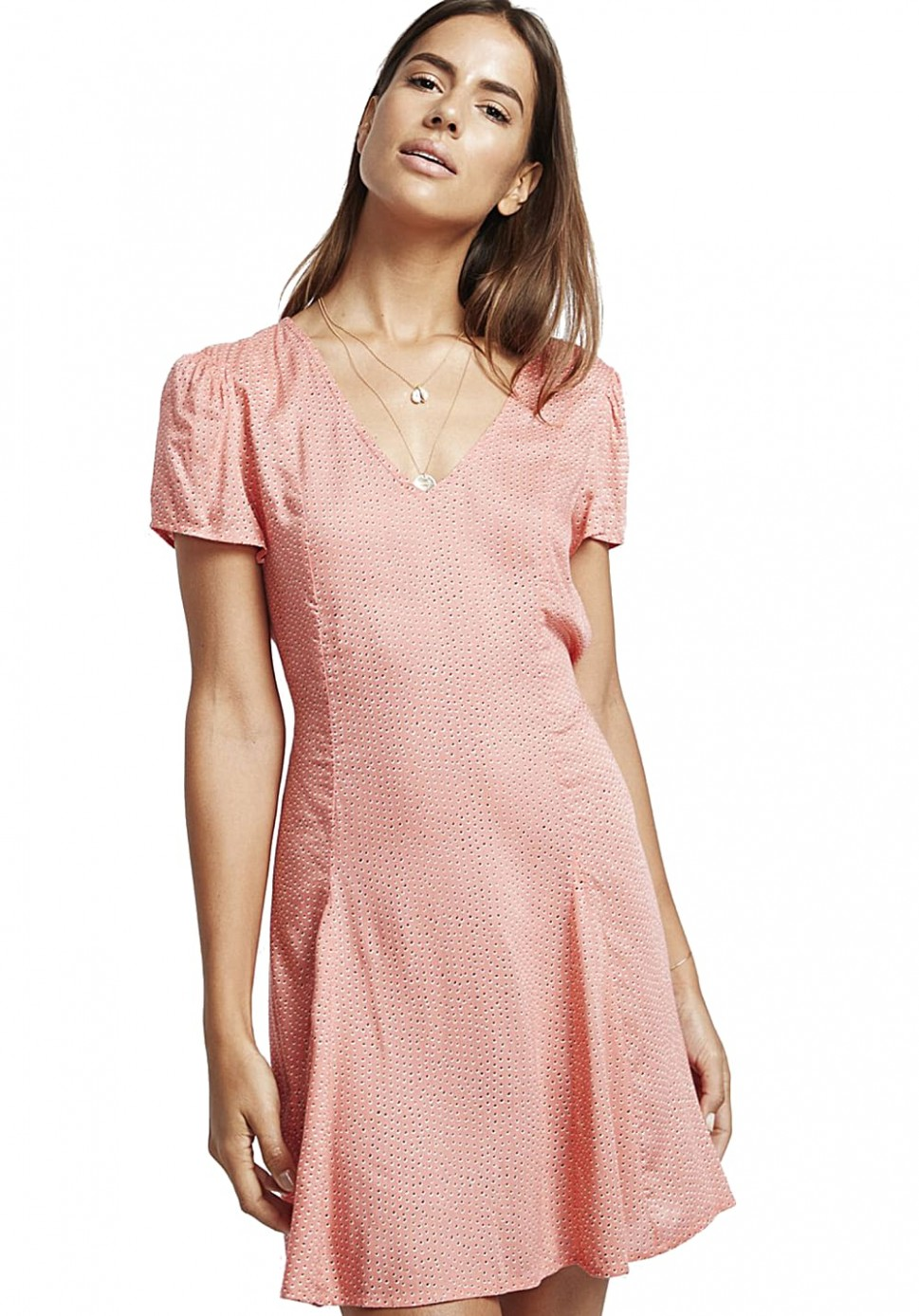 billabong skate day kleid für damen pink rosa kleid damen