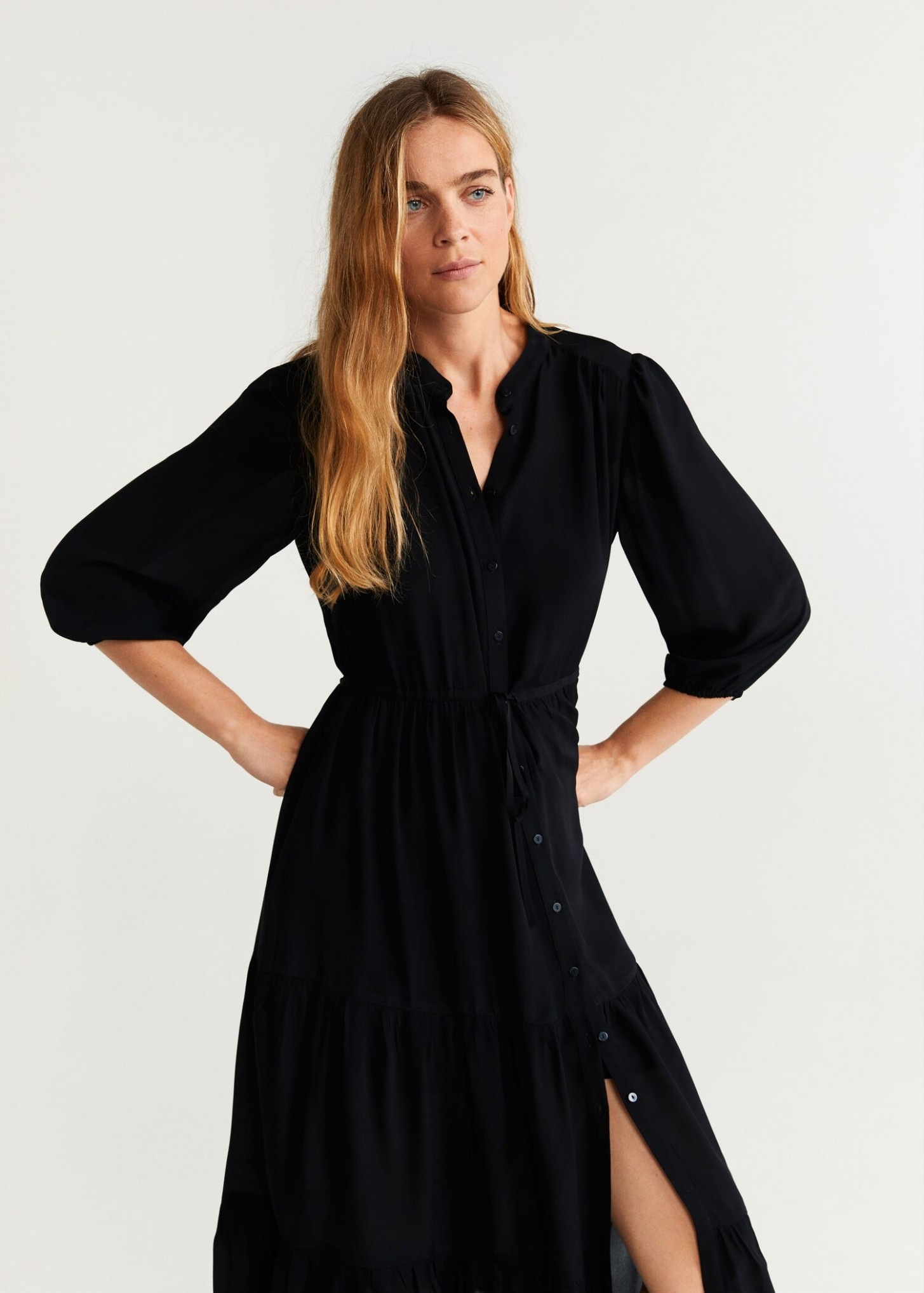 Buttoned gown - Woman  OUTLET United Kingdom