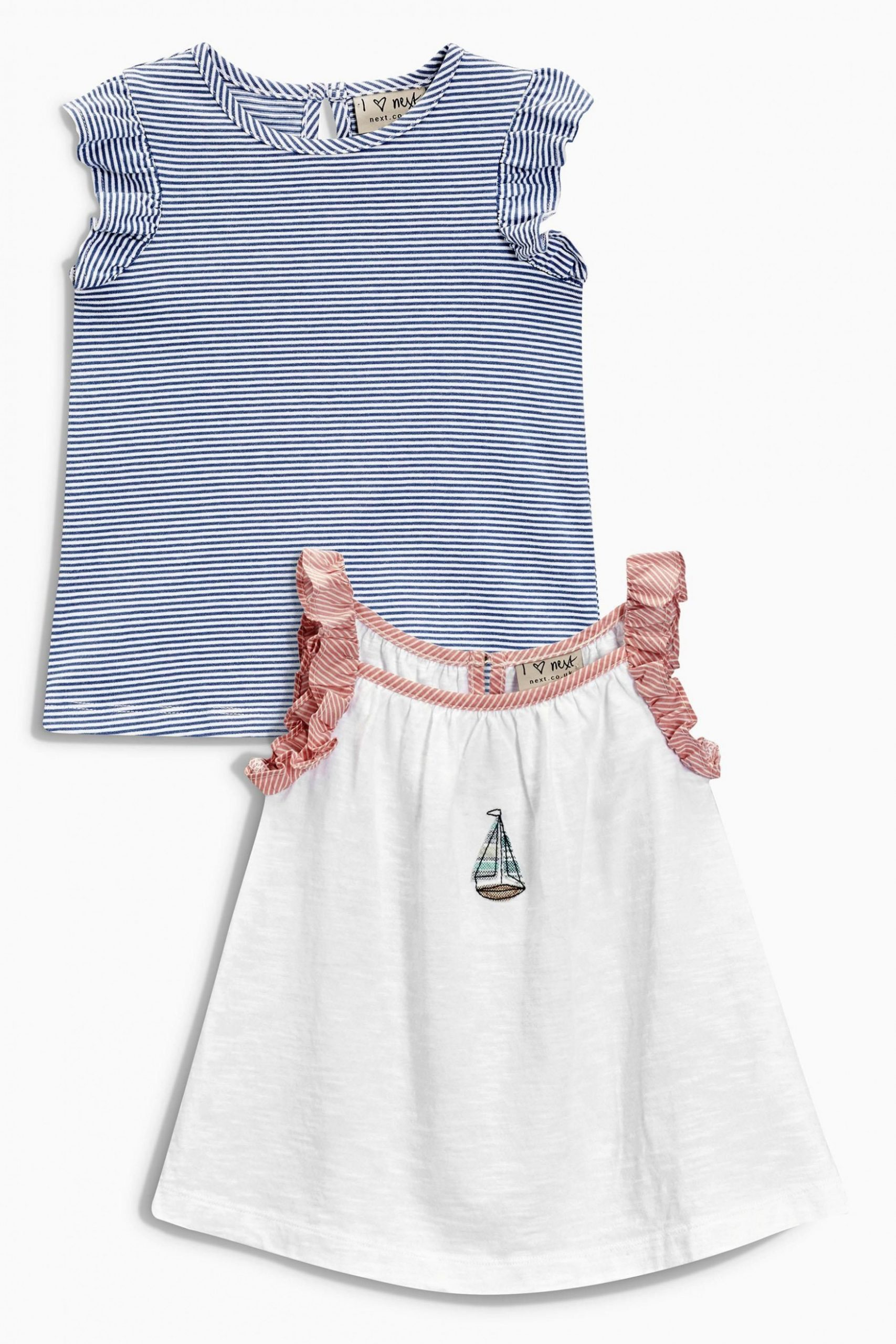 buy white boat tops two pack (12mths 12yrs) online today at next next klamotten