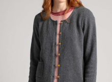 Cardigan in eco-cotton with a touch of wool/alpaca  Gudrun Sjödén