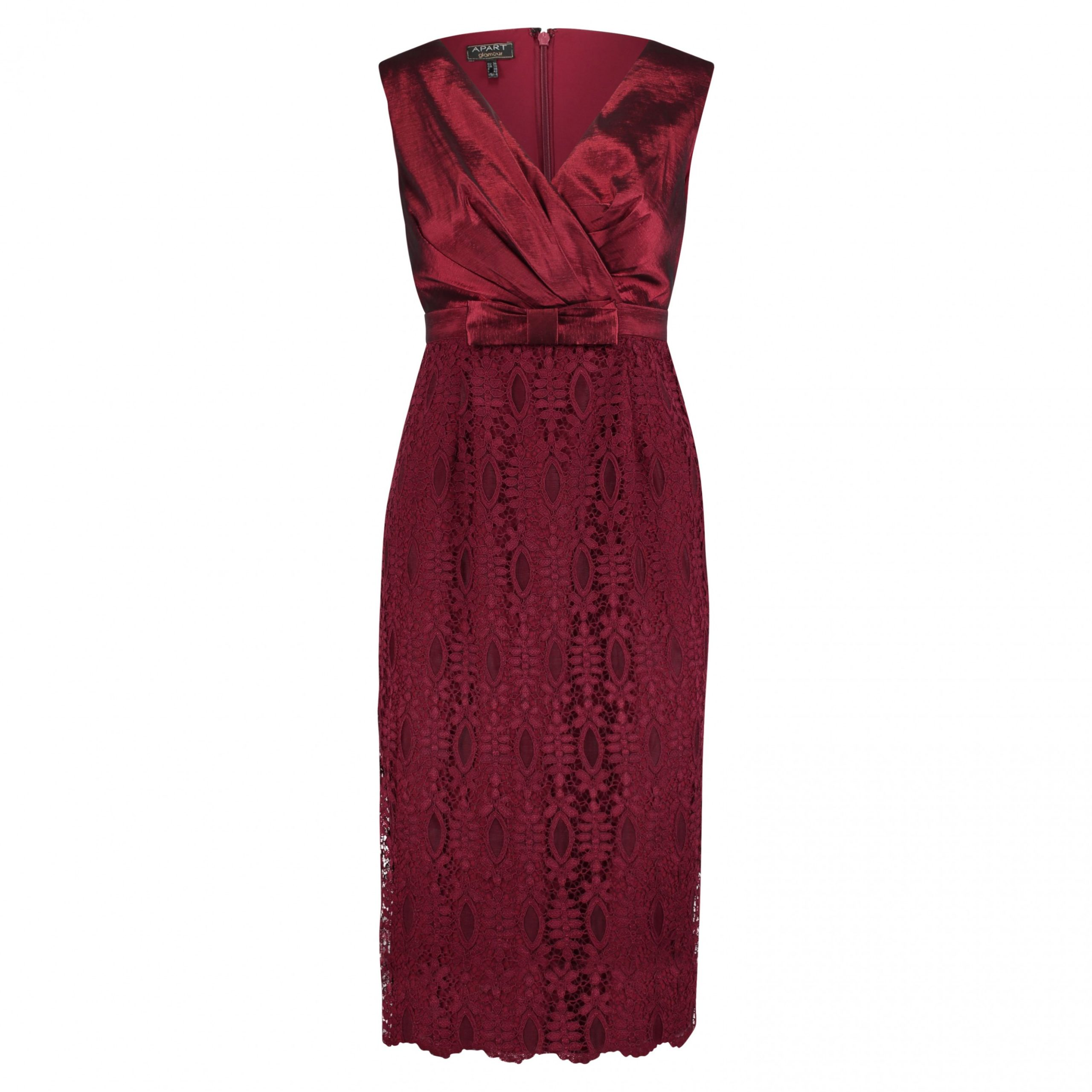 cocktailkleid mit schleifendetail cocktailkleid bordeaux