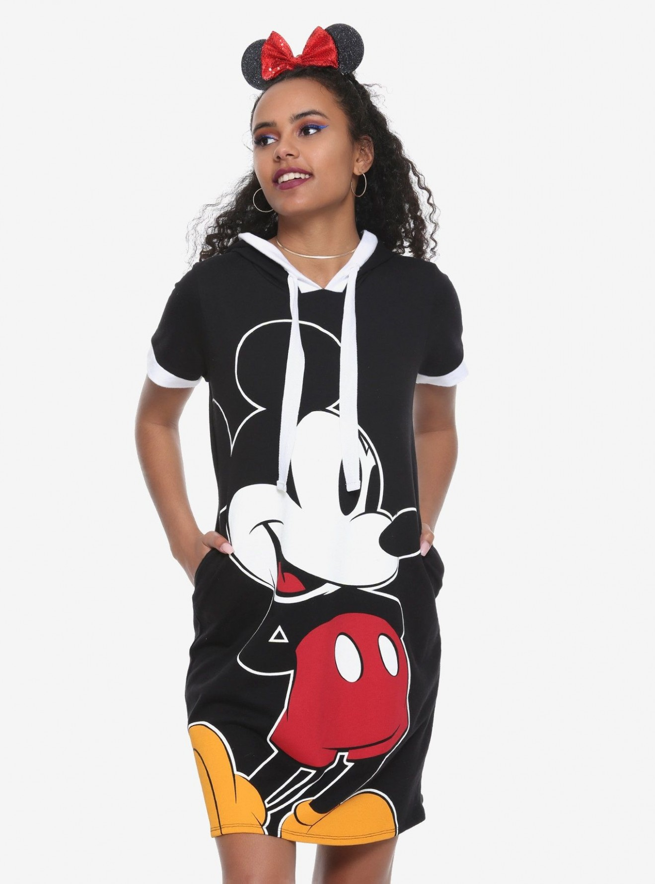 disney mickey mouse face hooded dress mickey mouse dress, mouse mickey mouse kleidung damen