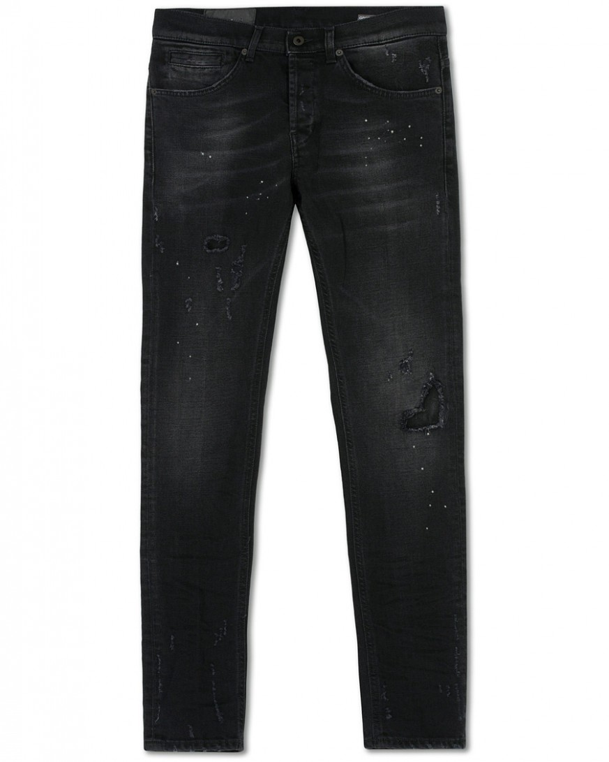 dondup george jeans shredded black bei careofcarl