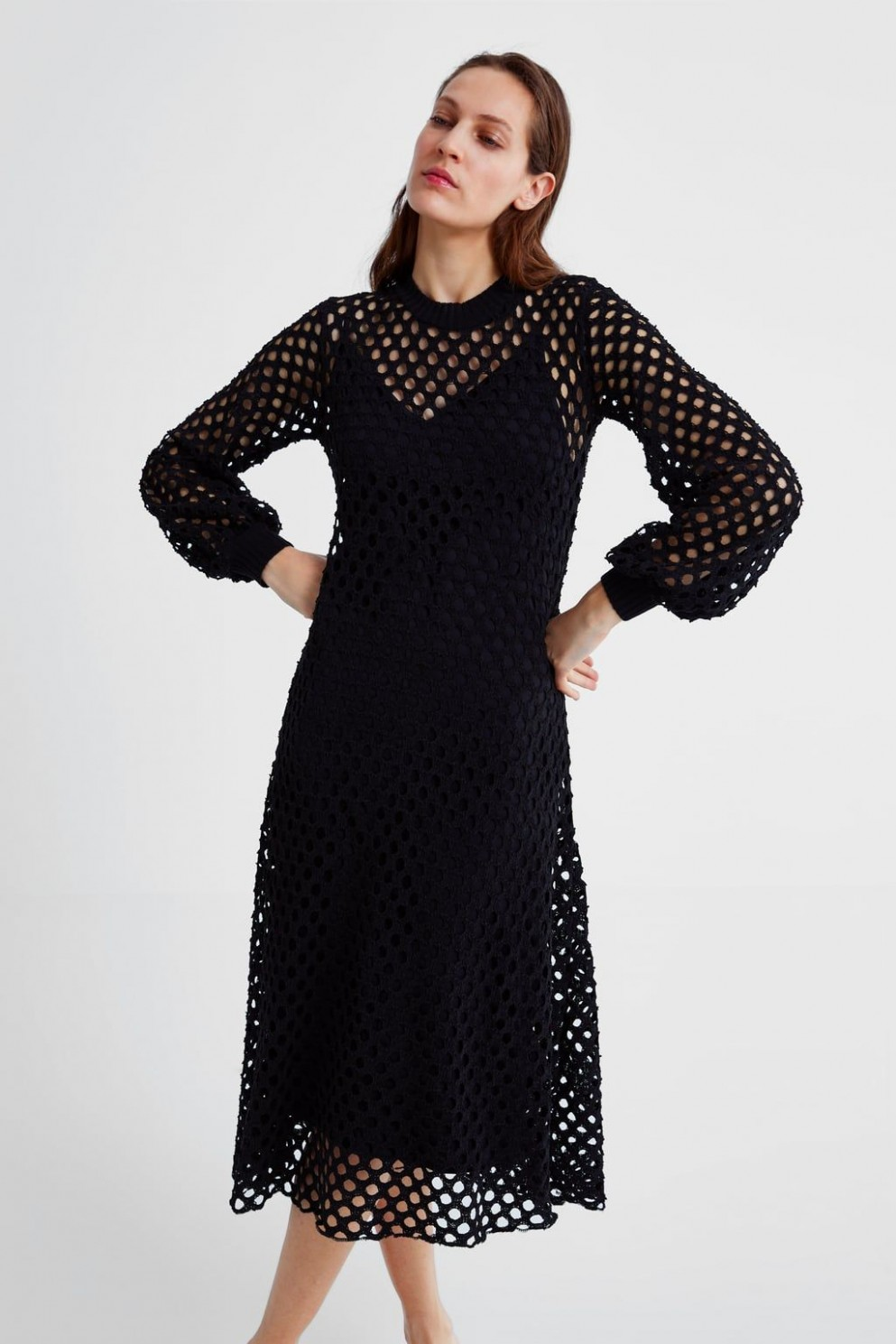 dress with mesh trim view all dresses woman zara united states mesh kleid