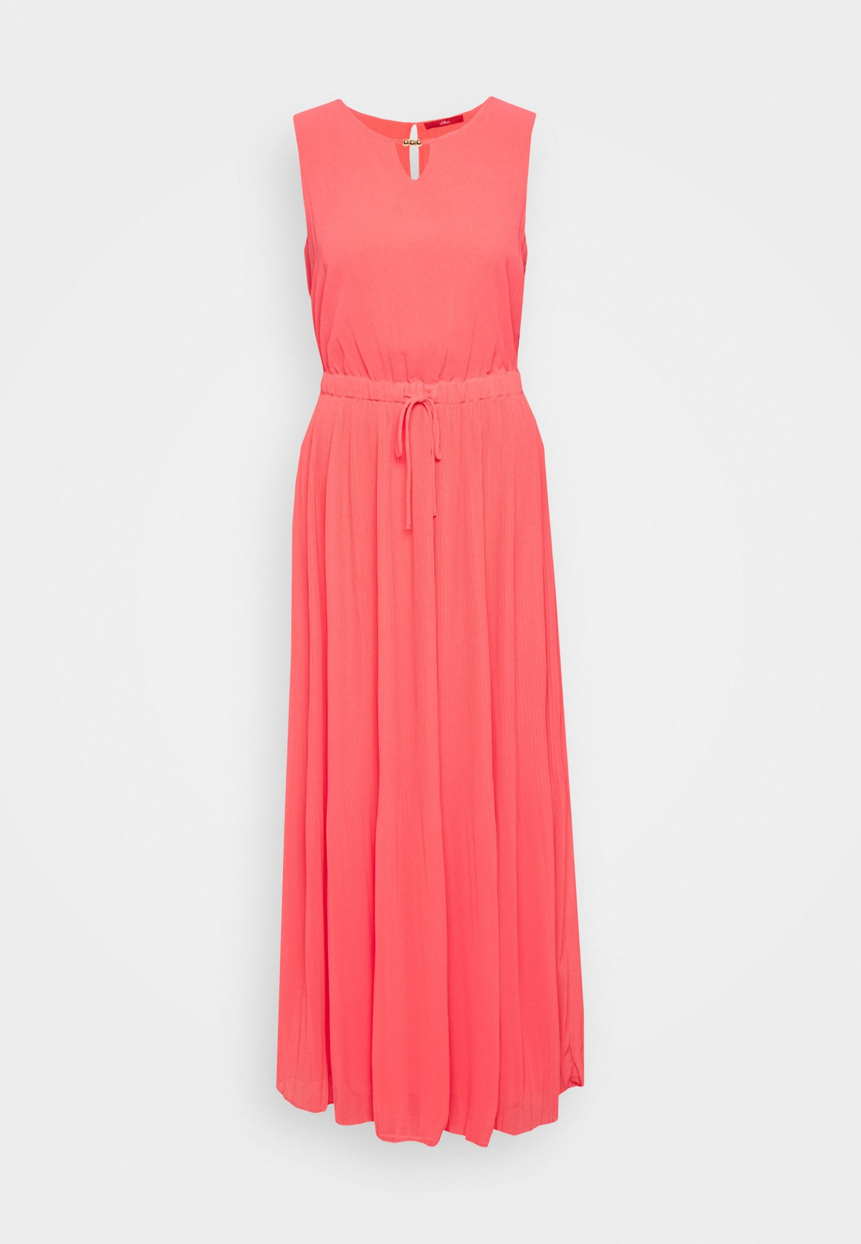 lang maxikleid coral red s oliver maxikleid