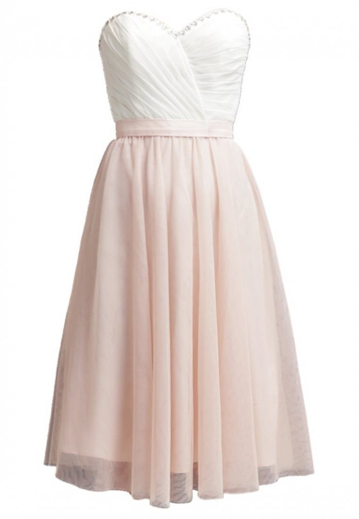 laona robe de soirée cream white/rose blush zalando