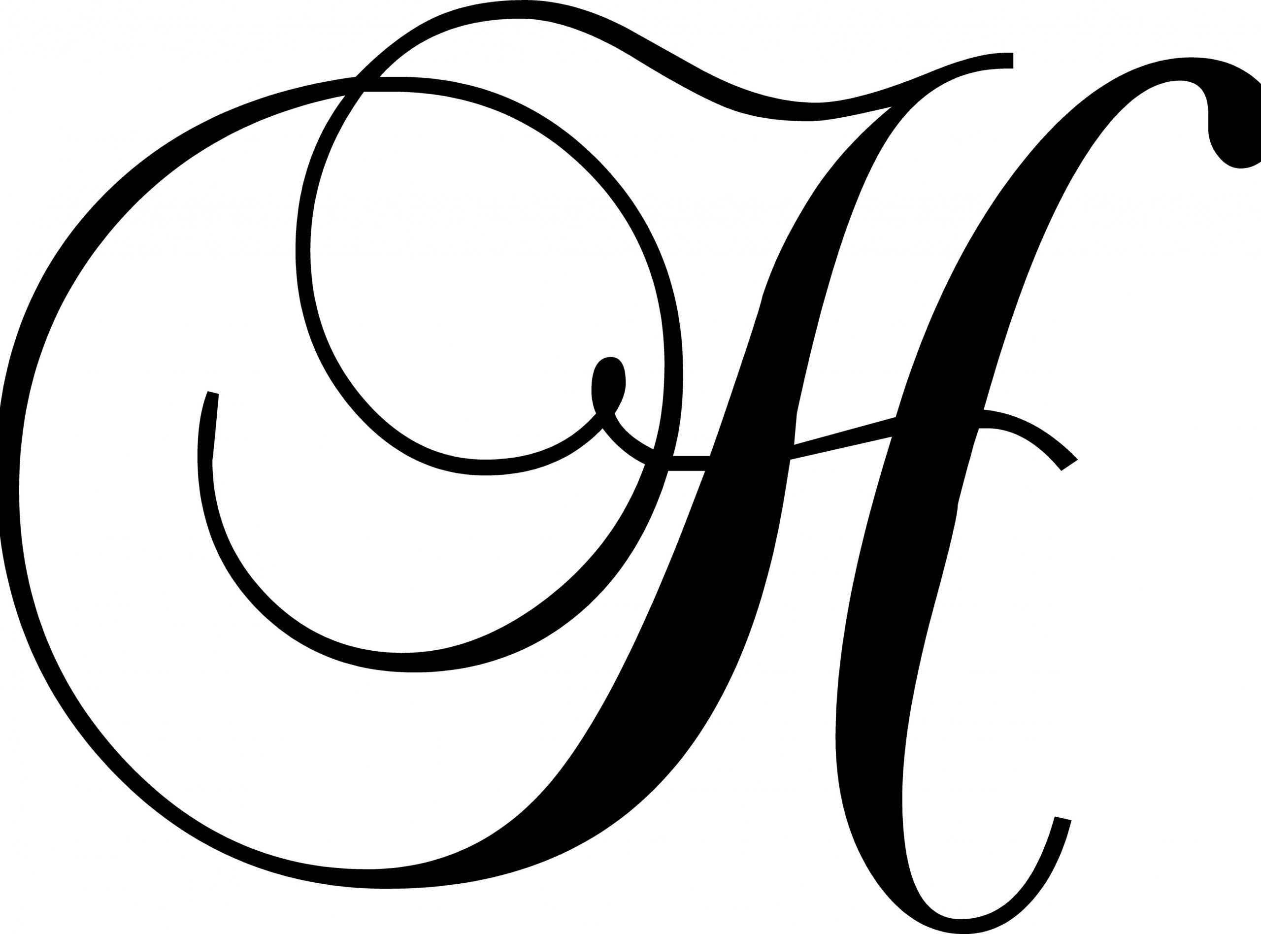 """Letter """"H"""" Wall Decal"""