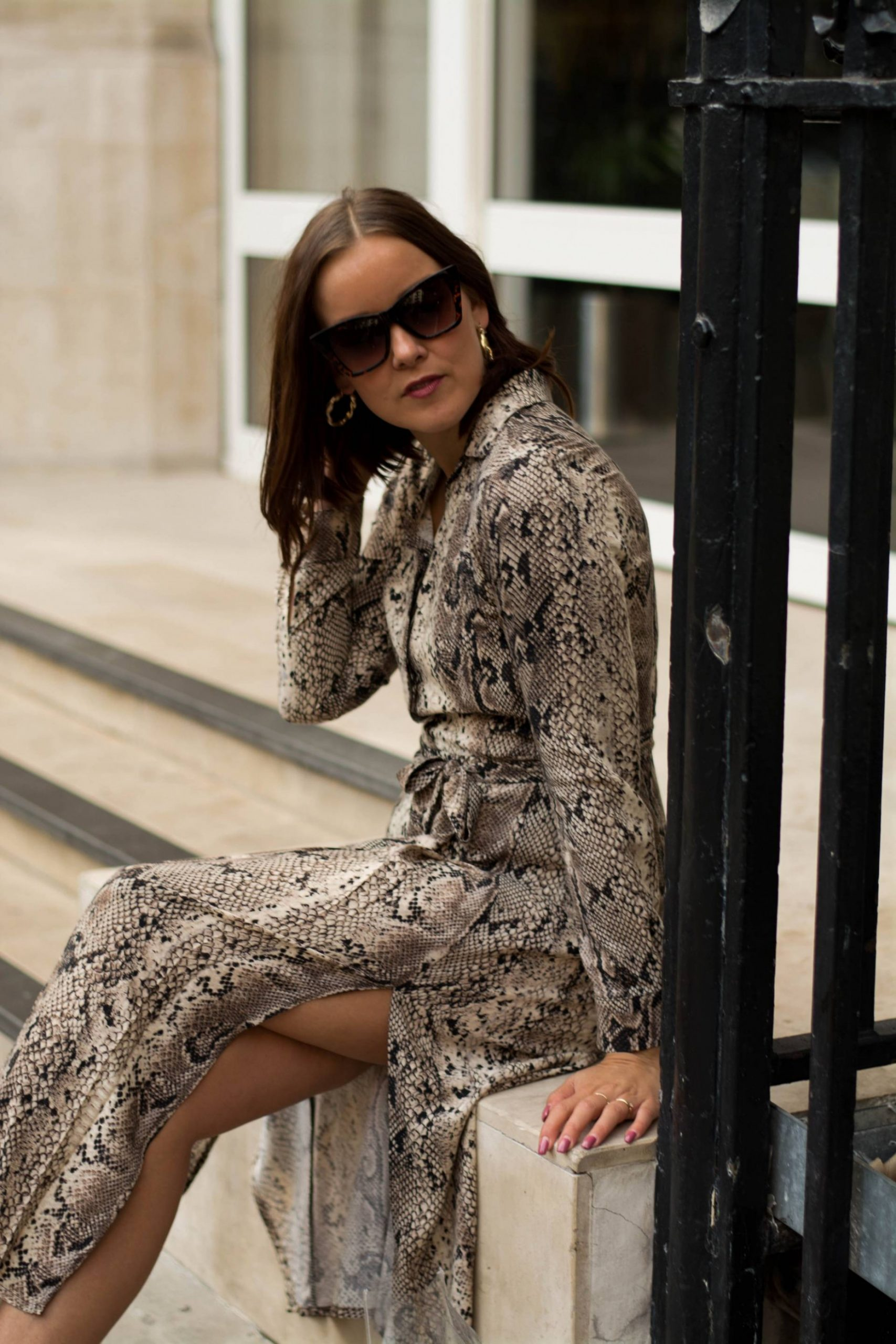 LONDON  SNAKE PRINT DRESS - Style Appetite