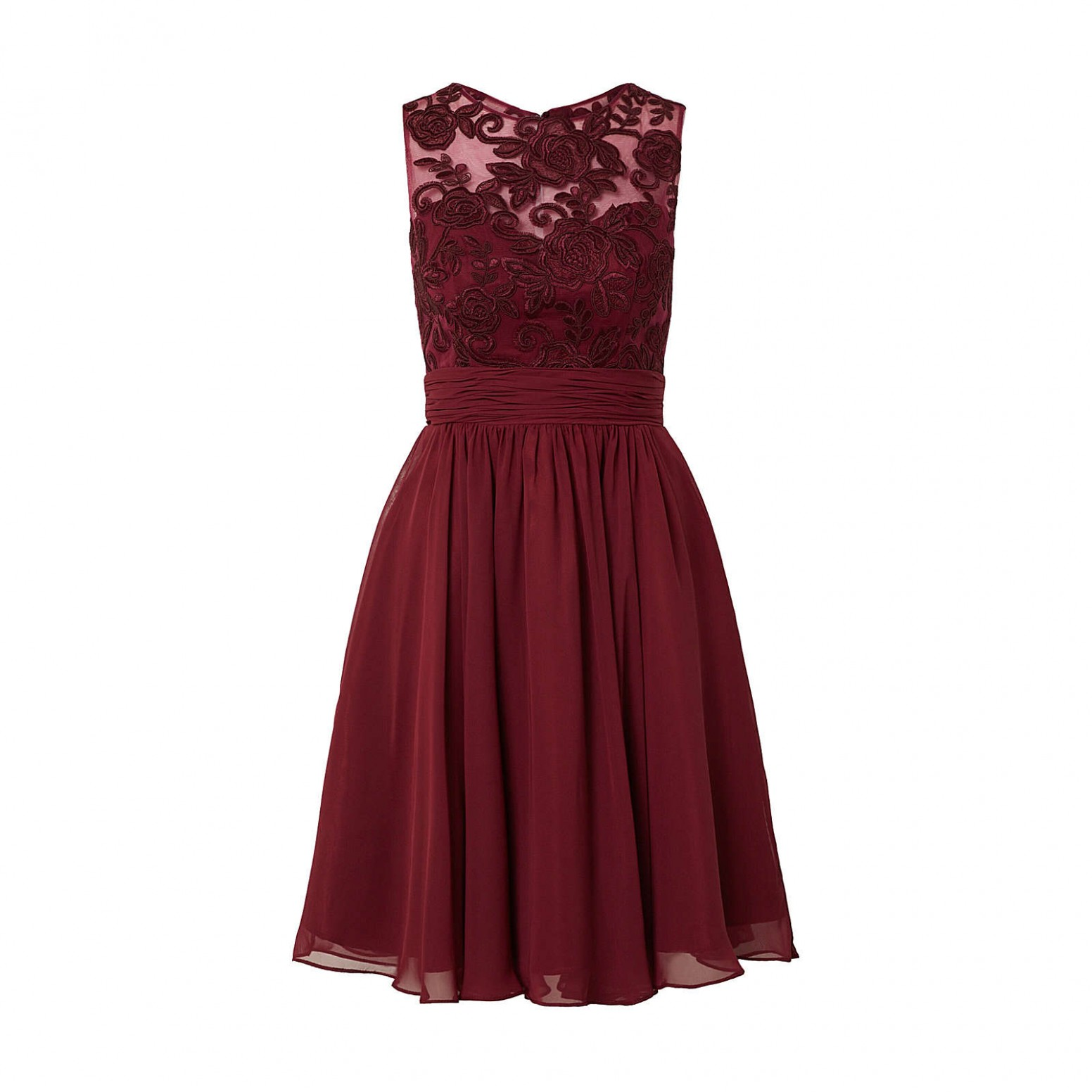 magic nights cocktailkleid cocktailkleider bordeaux damen gr