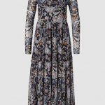 Mesh Dress With Floral Design Rich And Royal Kleid