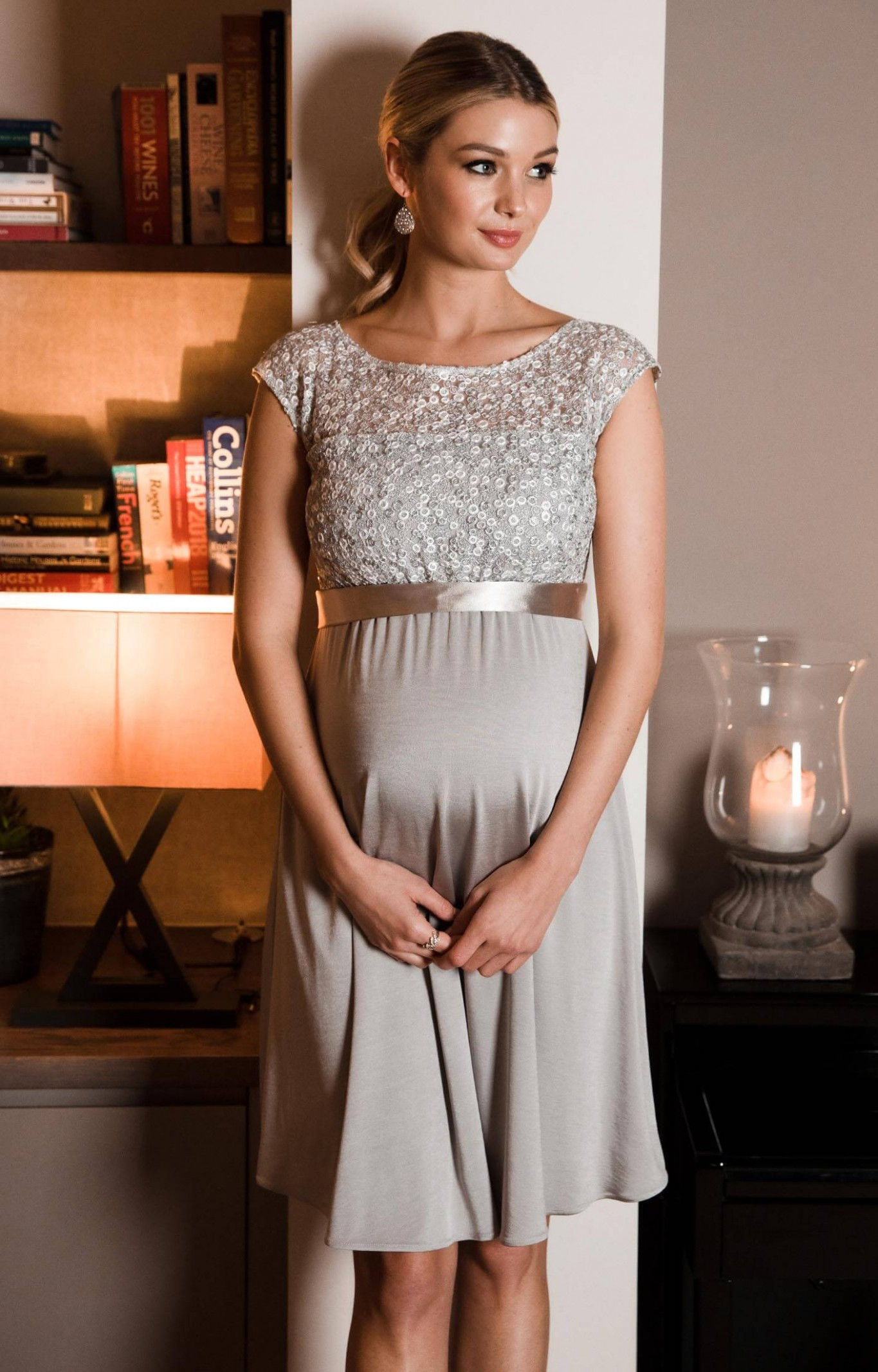 mia maternity dress short silver maternity wedding dresses, evening wear and party clothes by tiffany rose schwangerschaftskleid