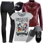 Micky Maus Mickey & Minnie Mouse A Great Pair T Shirt Grau Mickey Mouse Kleidung Damen