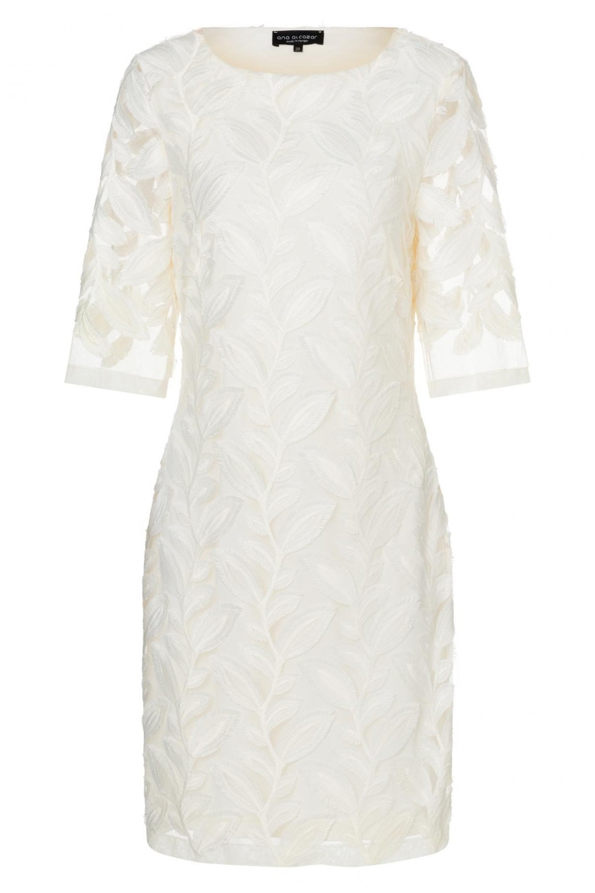 Noble tight lace-dress Zawea in white  Ana Alcazar
