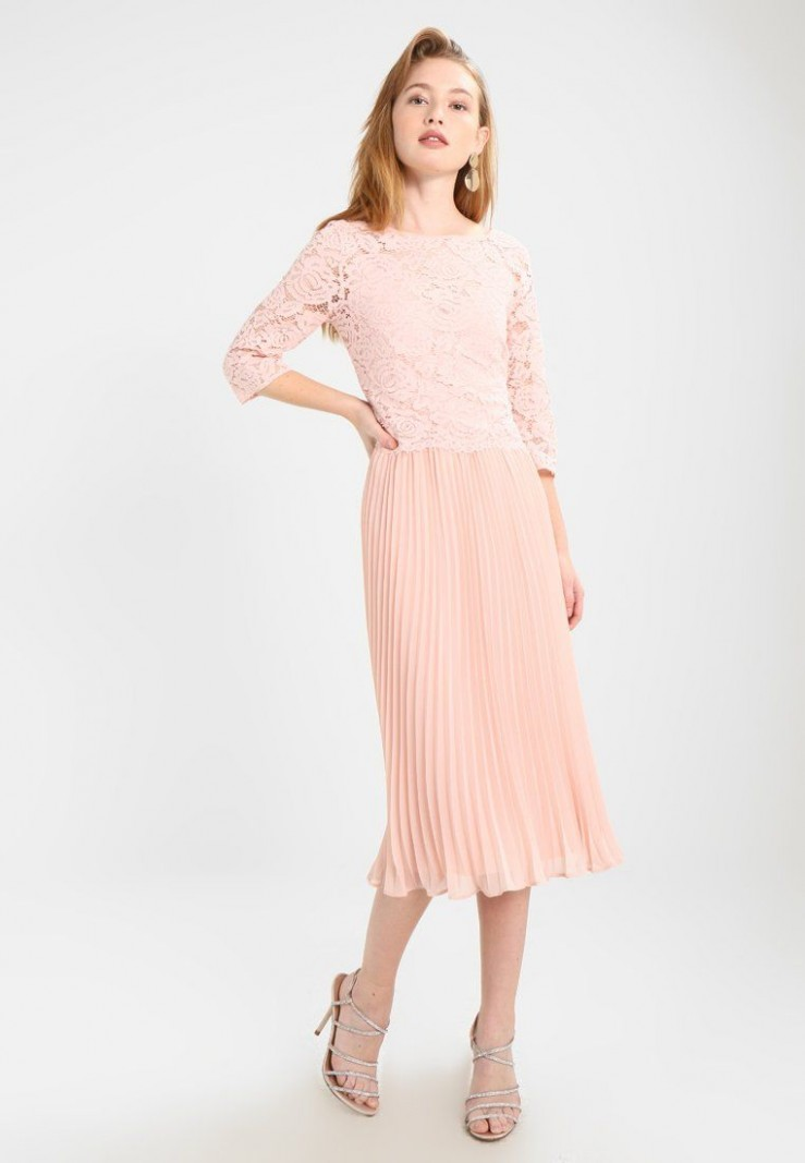 oasis ellie 11/11 sleeve pleated midi dress cocktailkleid cocktailkleid midi