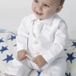 Pin By Mafe Aragon On Christening Baby Boy Christening Outfit Taufe Outfit Junge