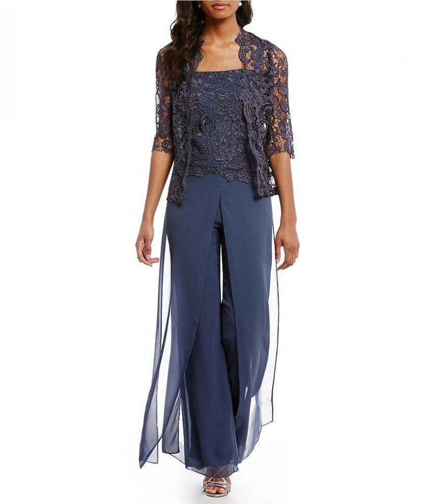 Platinum:Emma Street Lace Chiffon Pant Set  Dress pants outfits