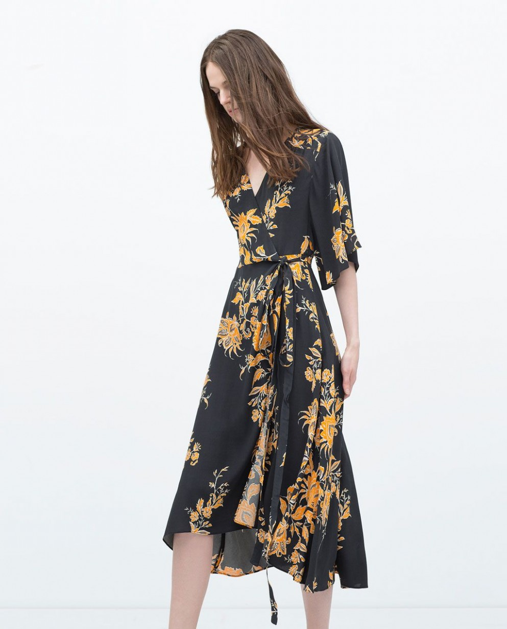 PRINTED DRESS-View all-Dresses-WOMAN  ZARA Hong Kong S.A.R. of