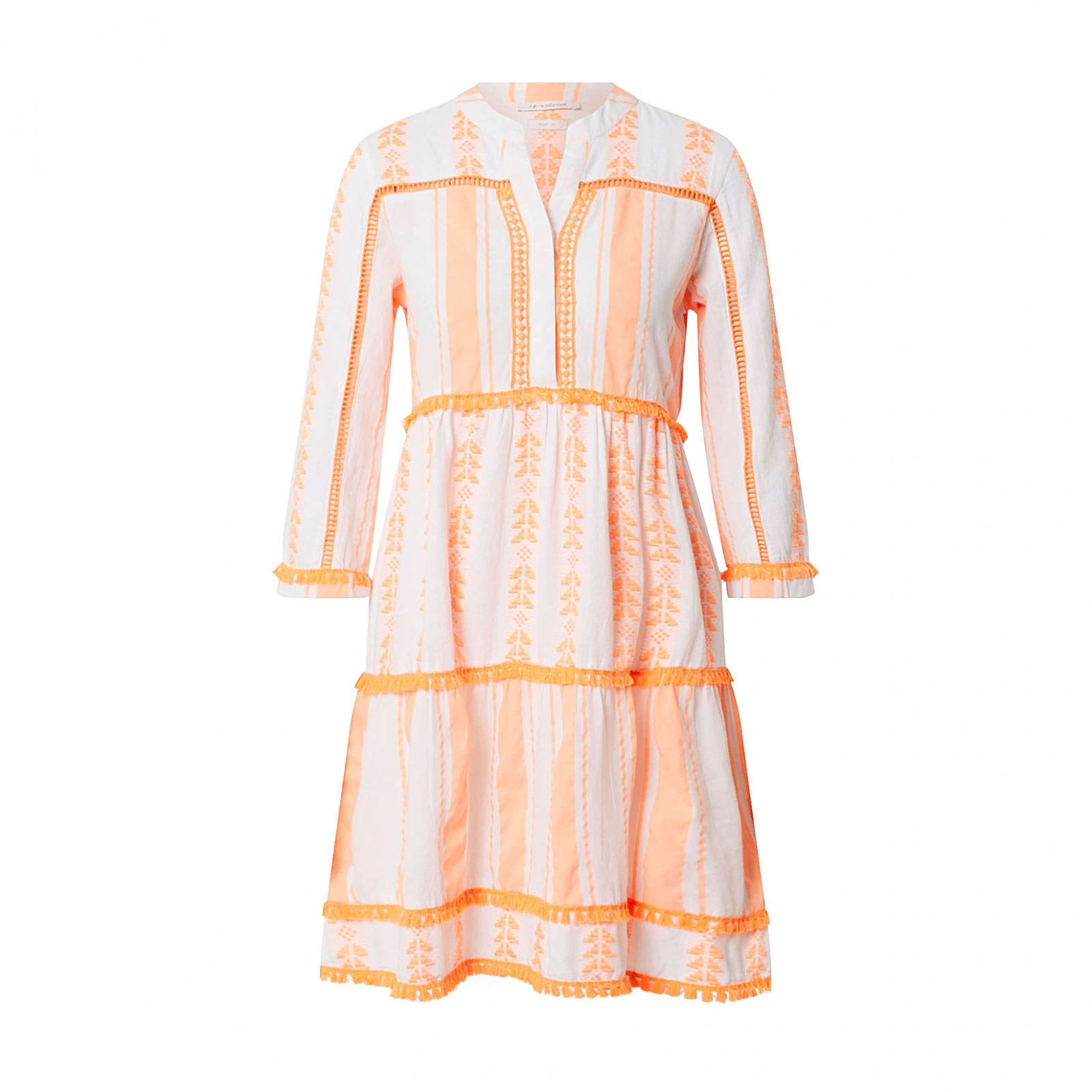 rich&royal rich & royal kleid sommerkleider orange damen gr