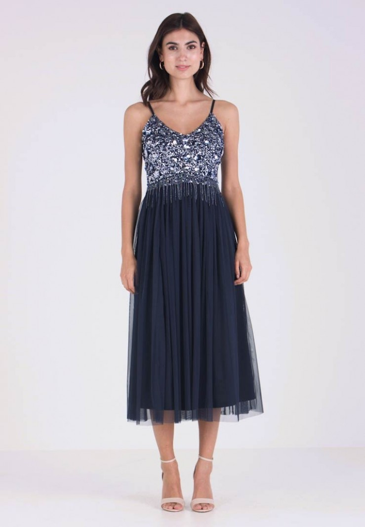riri midi cocktailkleid/festliches kleid navy cocktailkleid midi