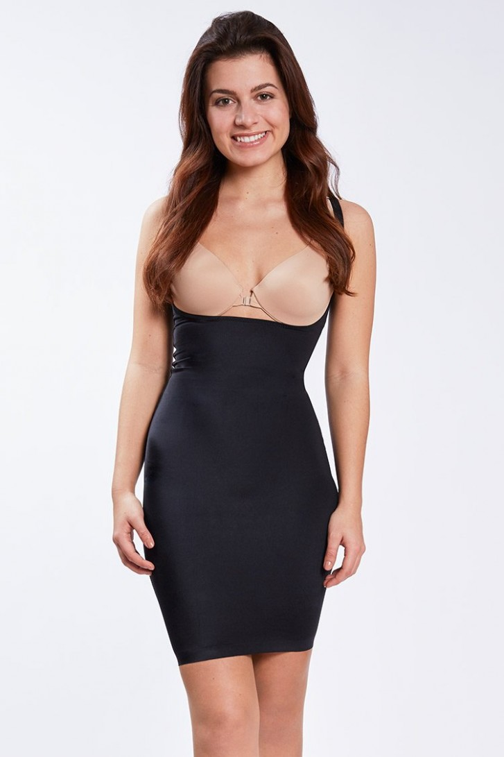 shape me  Full Slip Dress Schwarz  Marke: MAGIC Bodyfashion