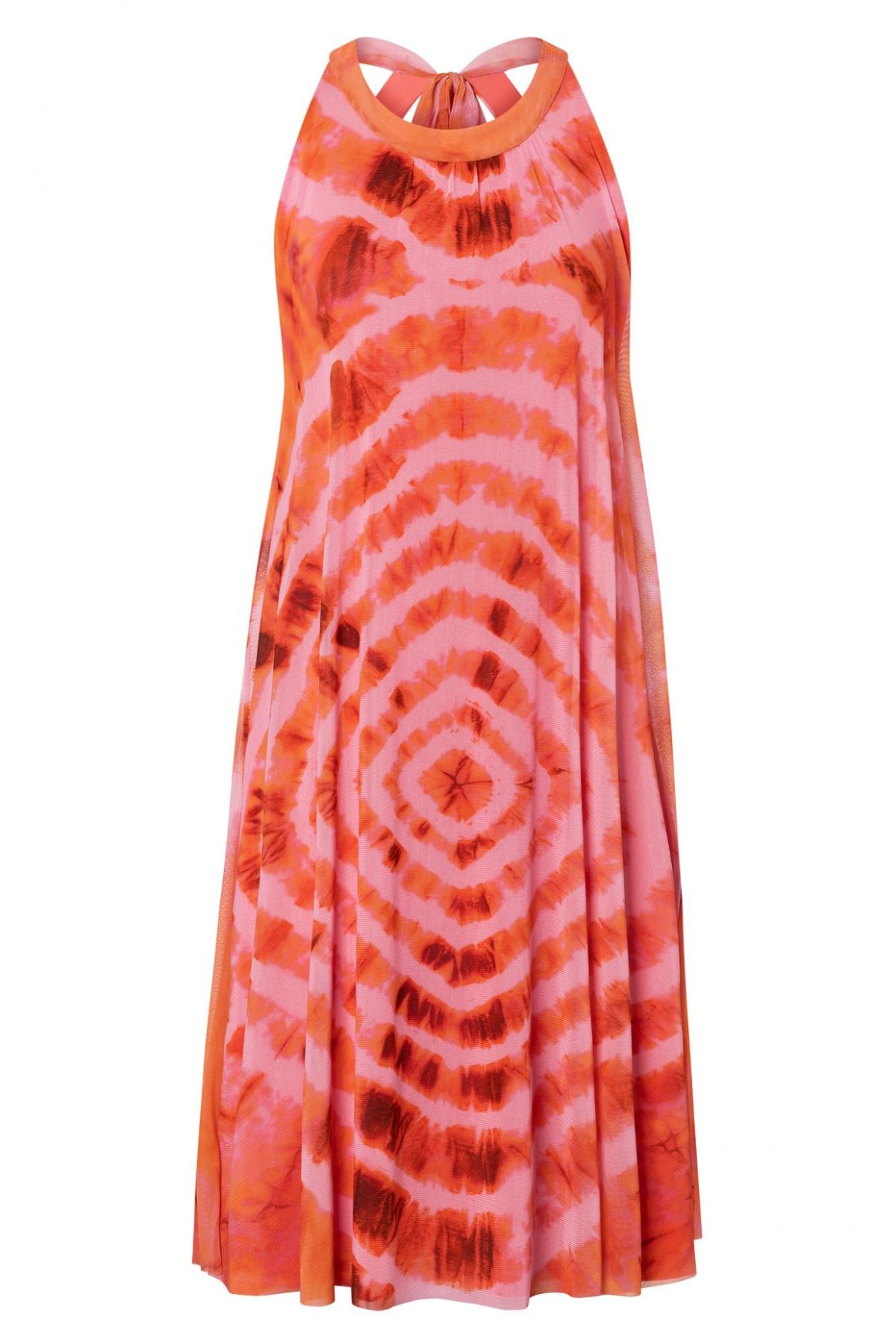 Sleeveless loose fit dress Zikto from batik-mesh in rose  Ana Alcazar
