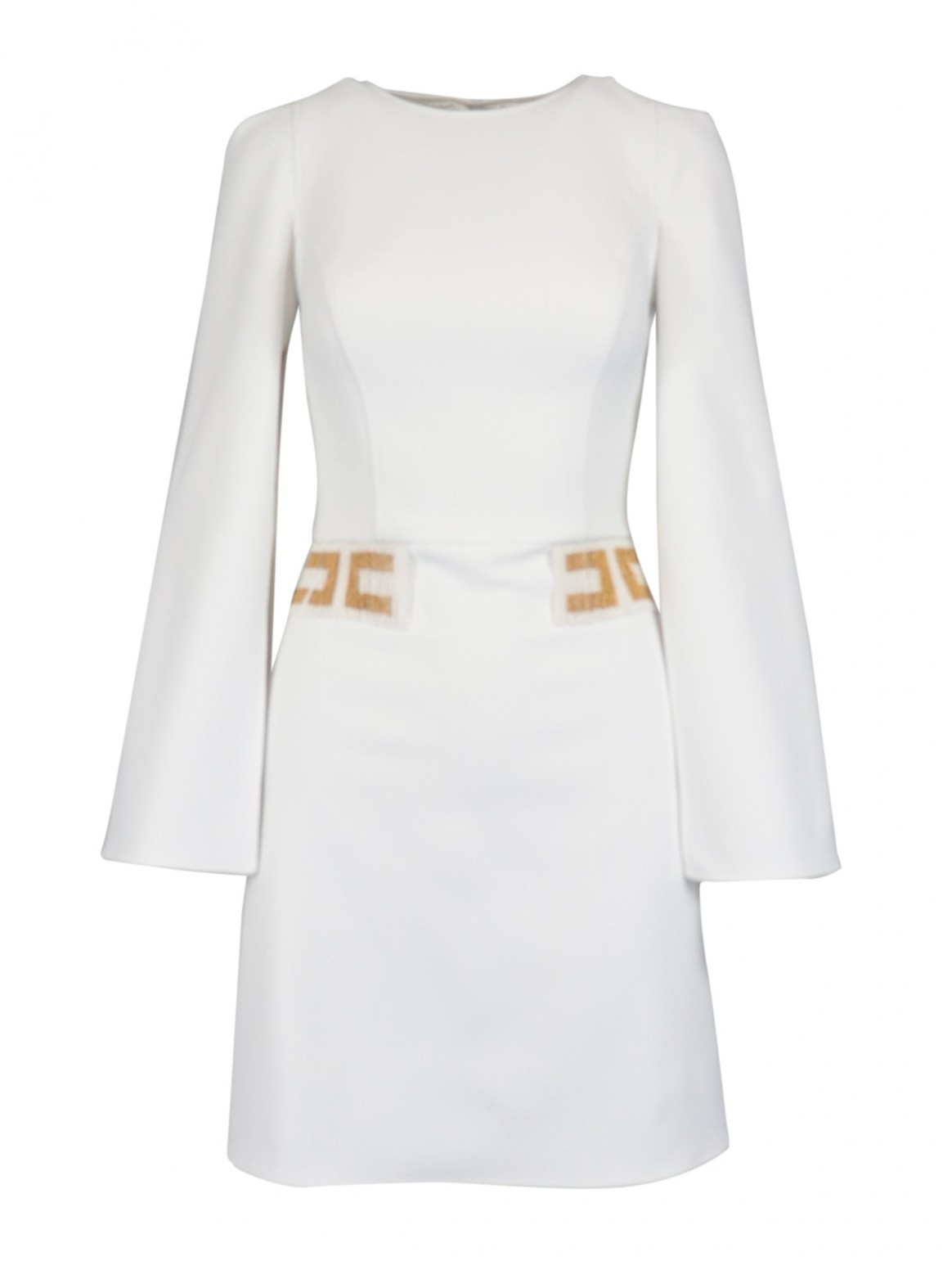 split long sleeve crepe dress elisabetta franchi kleid