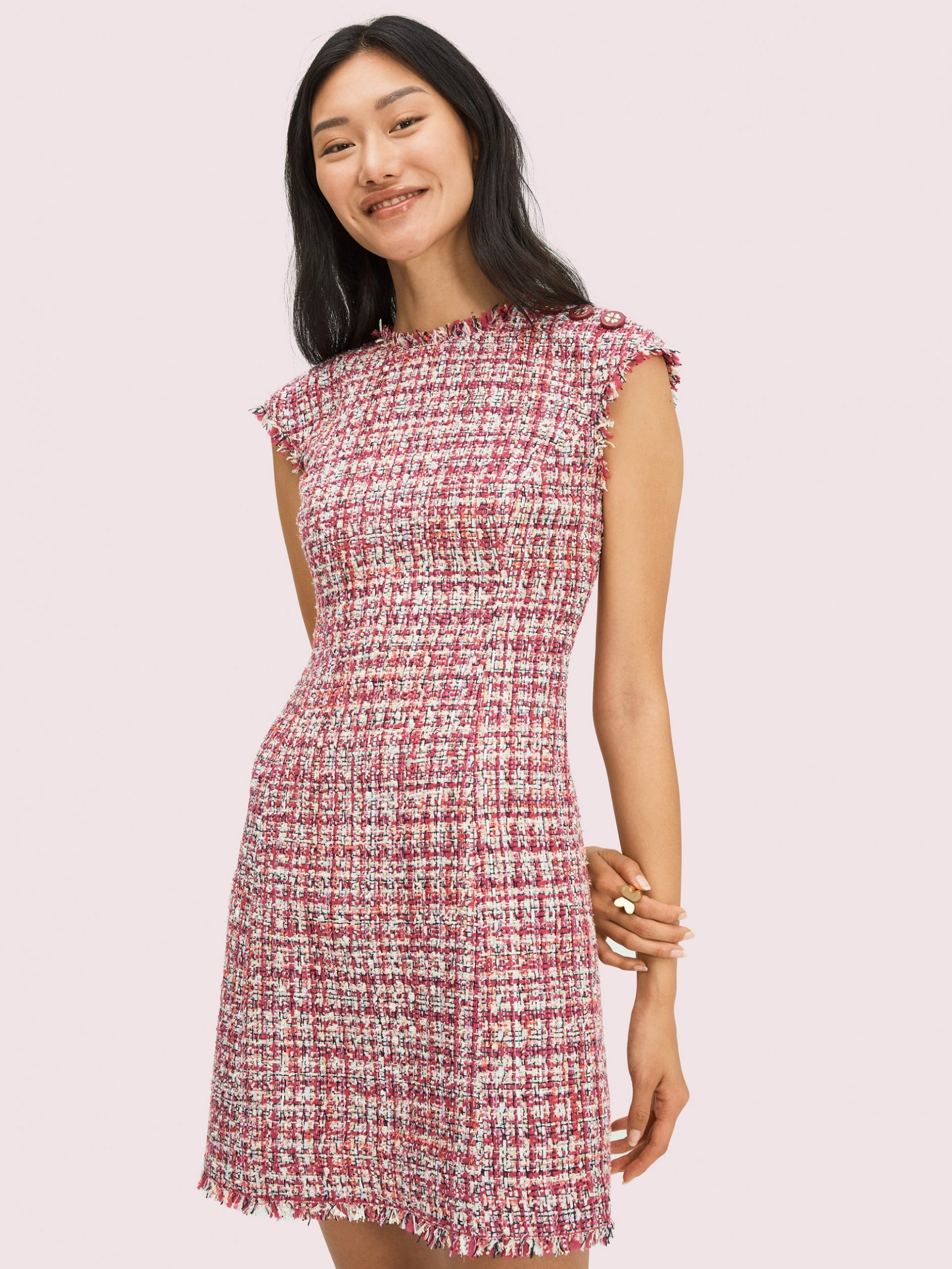 textured tweed dress tweed kleid