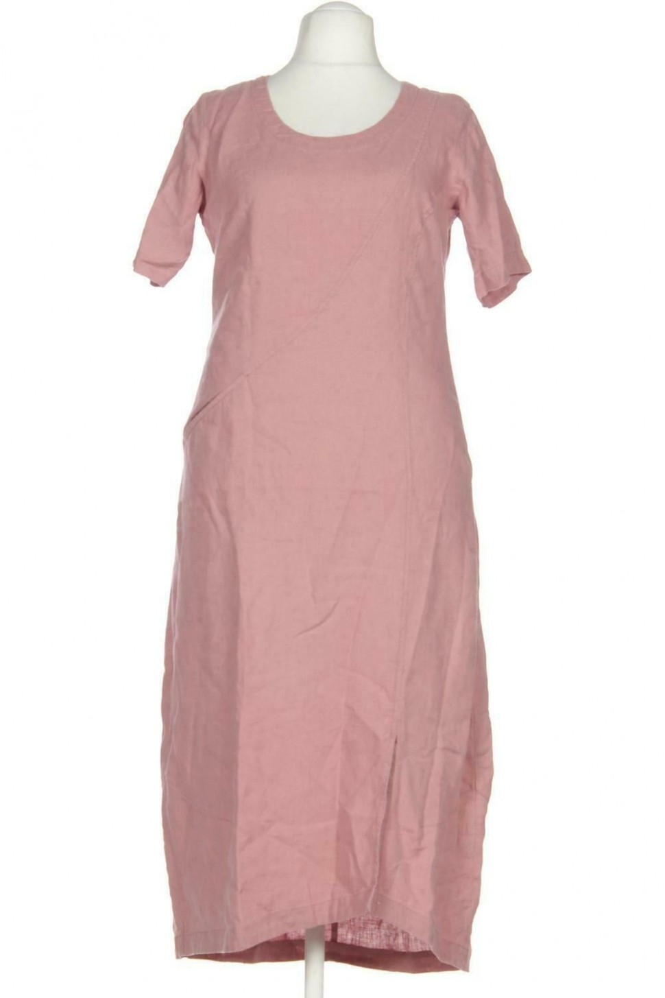 Vetono Kleid Damen Dress Damenkleid Gr. XL Leinen pink #fde9e9