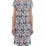 Weekend Max Mara Cascia Printed Jersey Dress Knee Length Max Mara Weekend Kleid