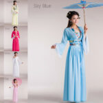 Girls Chinese Folk Dance Fairies Tang Suit Hanfu Chiffon Costume Cos Dresses Cos Kleidung