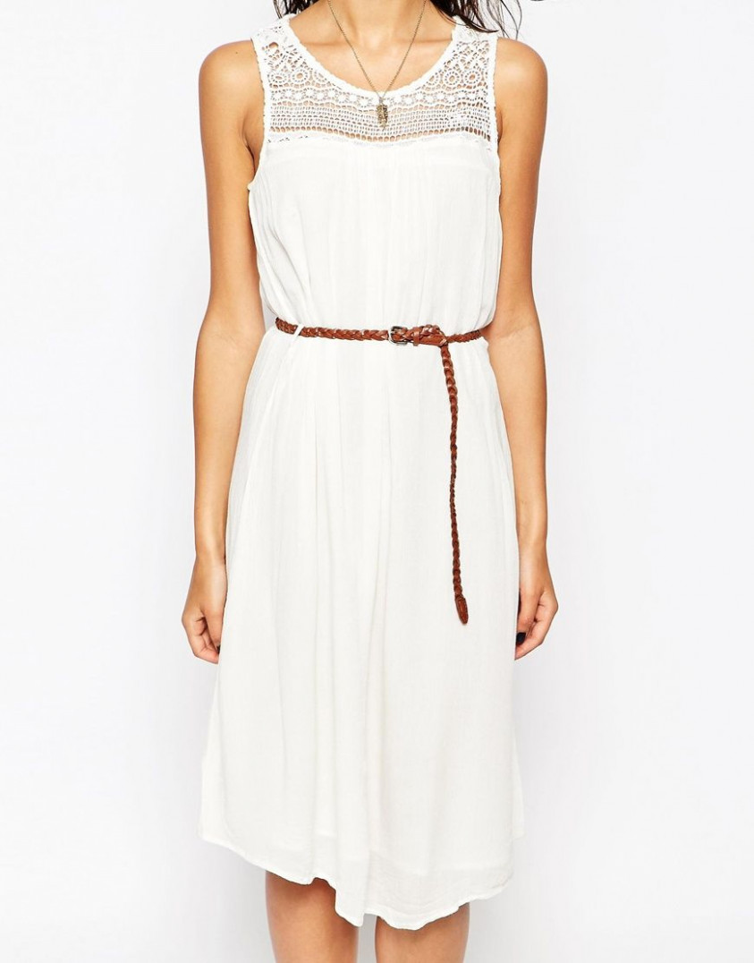 only sleeveless belted summer dress at asos