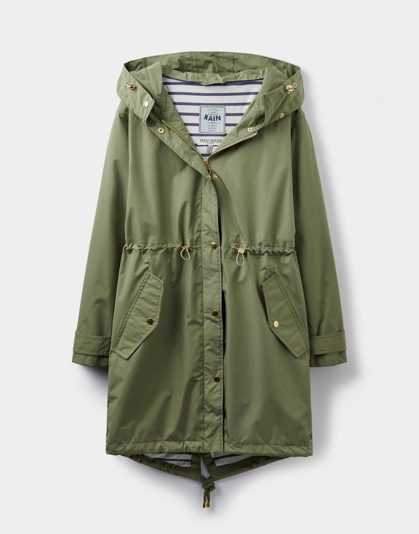 swithin soft khaki parka style waterproof jacket joules us parker kleidung