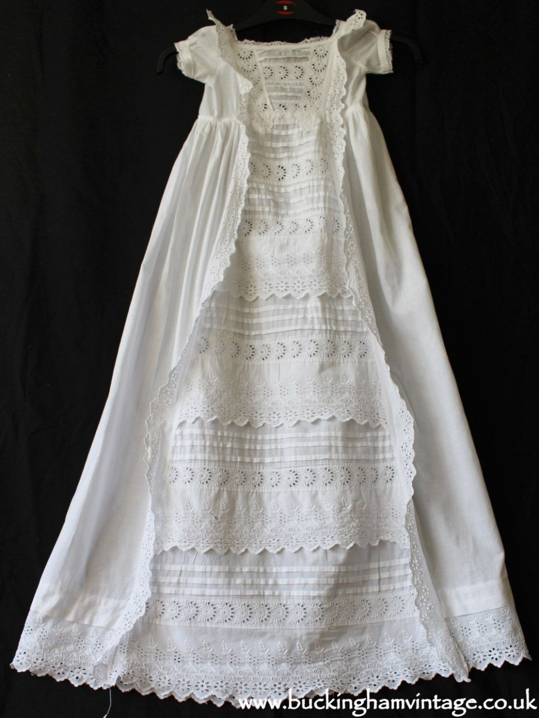antique christening gown english victorian baby dress embroidery kleid taufe