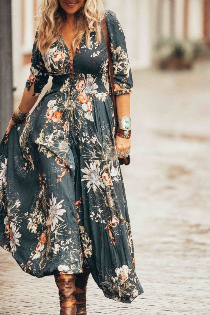are you ready for the best boho chic maxi dress ever! get the look chic kleider