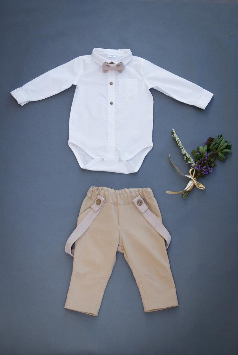 baby wedding outfit, godson gift, baby blessing outfit, page boy taufe junge kleidung