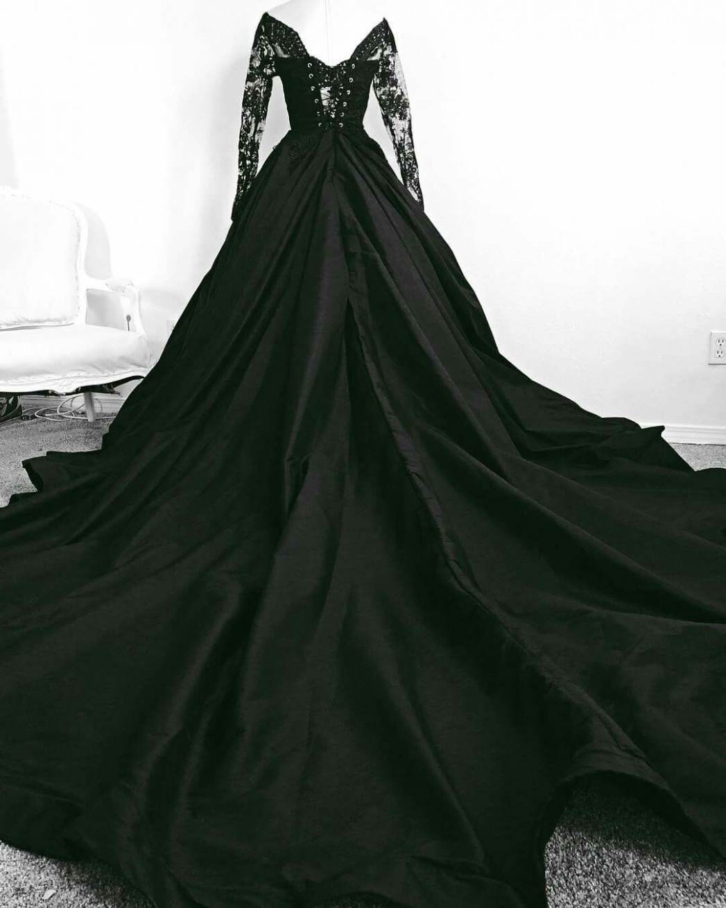 black #dress #wedding black wedding dress black wedding dress schwarzes kleid hochzeit