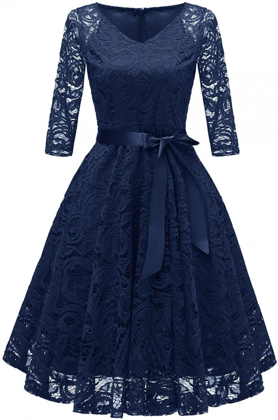 chowsir women vneck formal lace evening party prom midi dress swing cocktailkleid