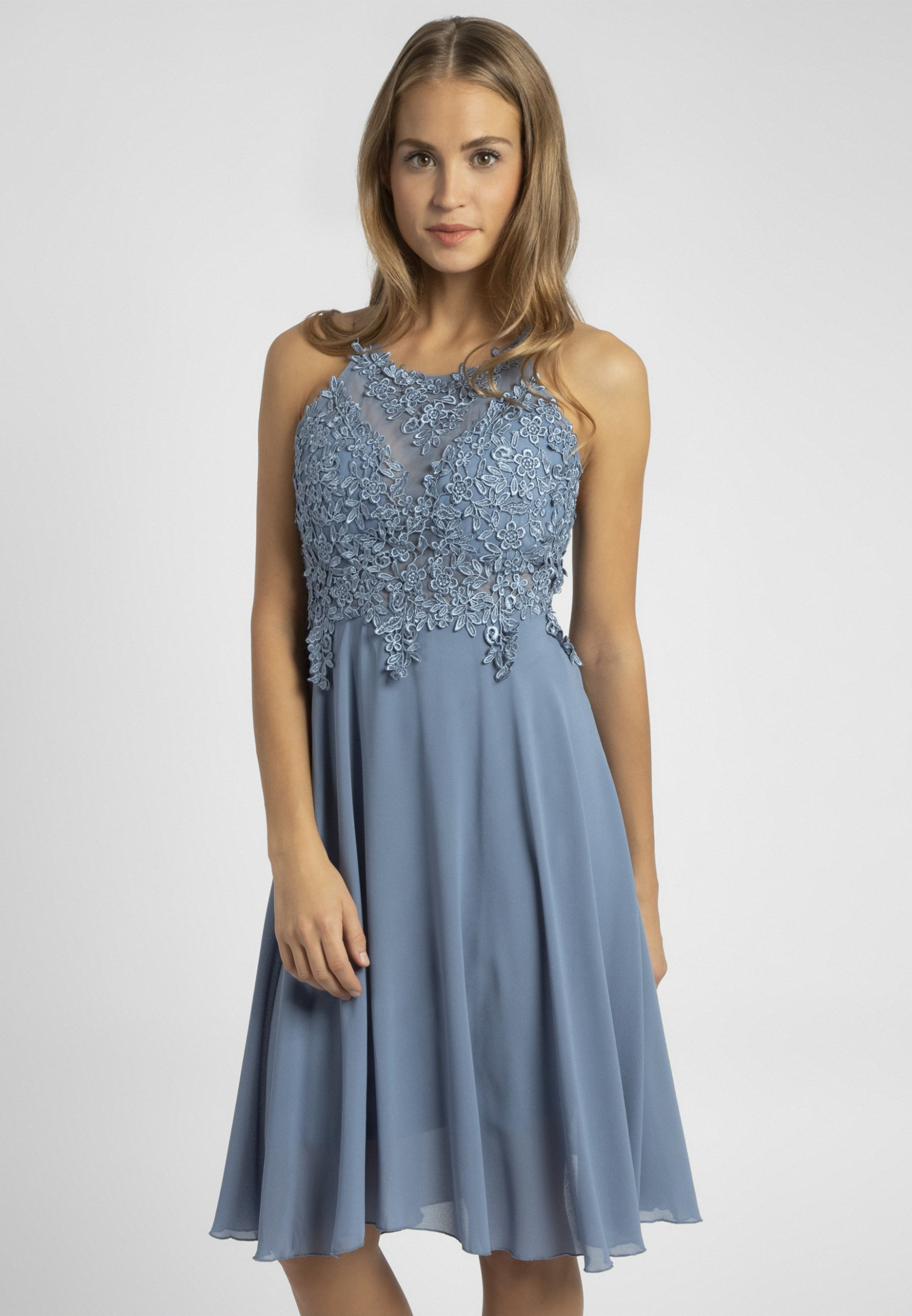 cocktailkleid/festliches kleid light blue cocktailkleid hellblau