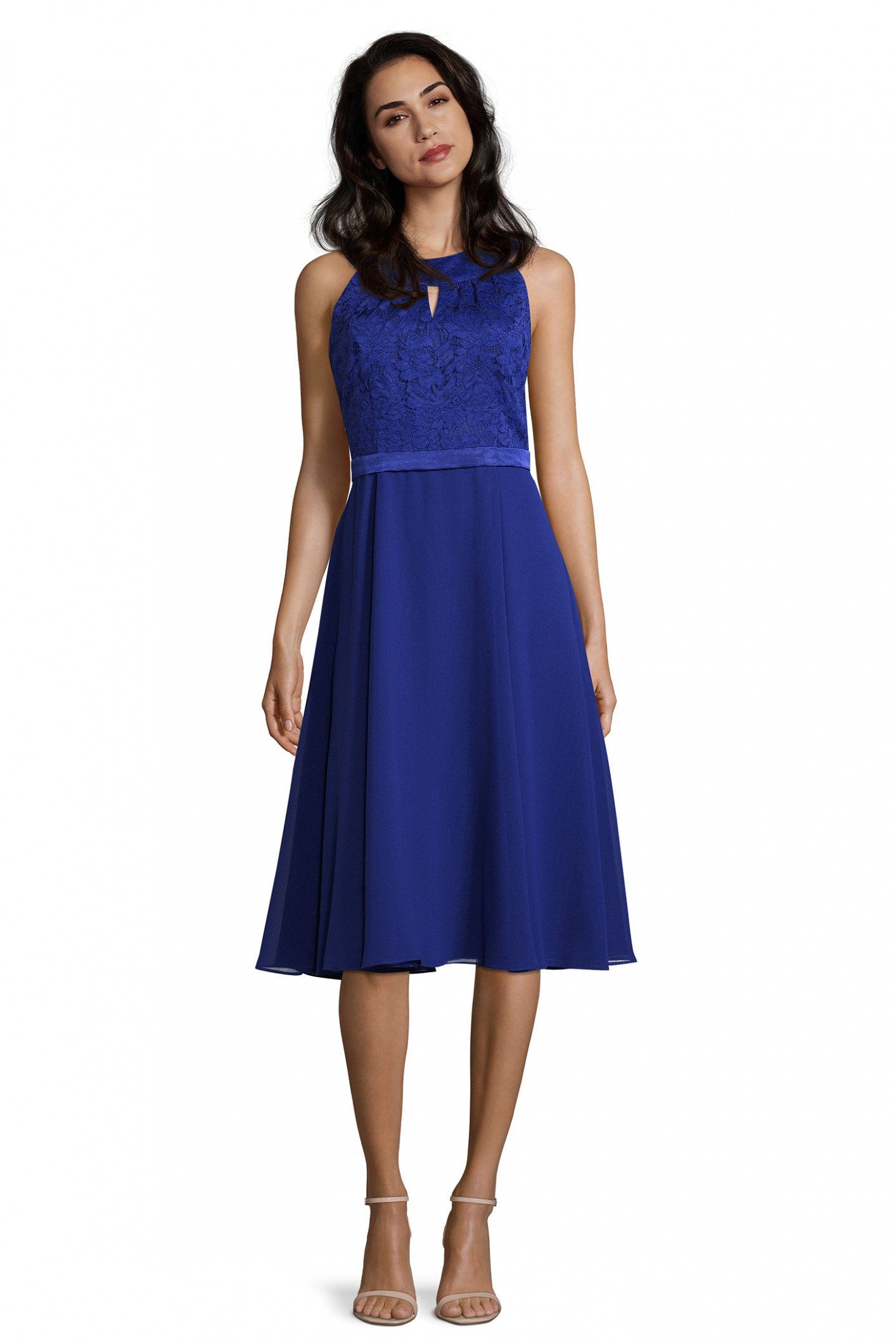 cocktailkleid in blau blaues cocktailkleid