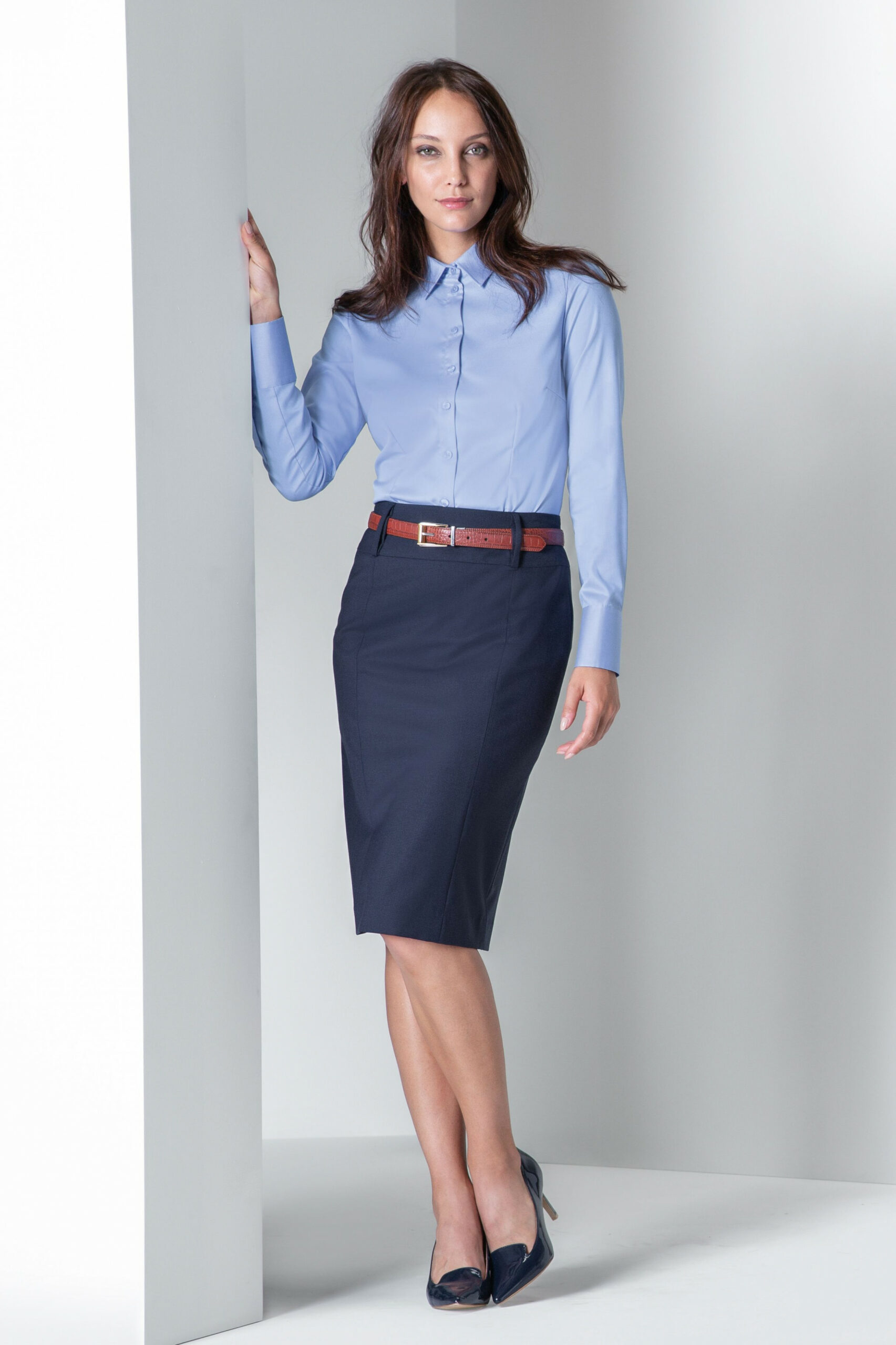 collection 9/9 women business look blouse, skirt premium kleidung für frauen