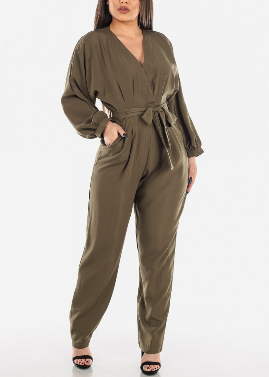 damenmode warehouse new retro cord belted long sleeve boilersuit warehouse kleidung