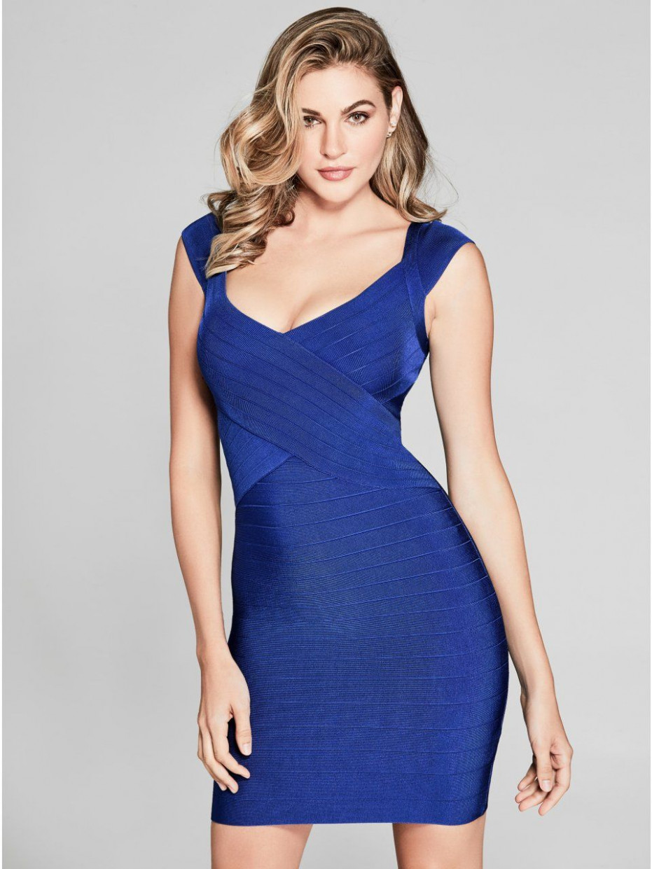 guess by marciano women's celesse bandage dress cocktail guess kleider | Guess Kleider