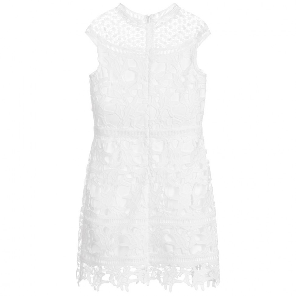 guess marciano girls white lace dress guess kleider
