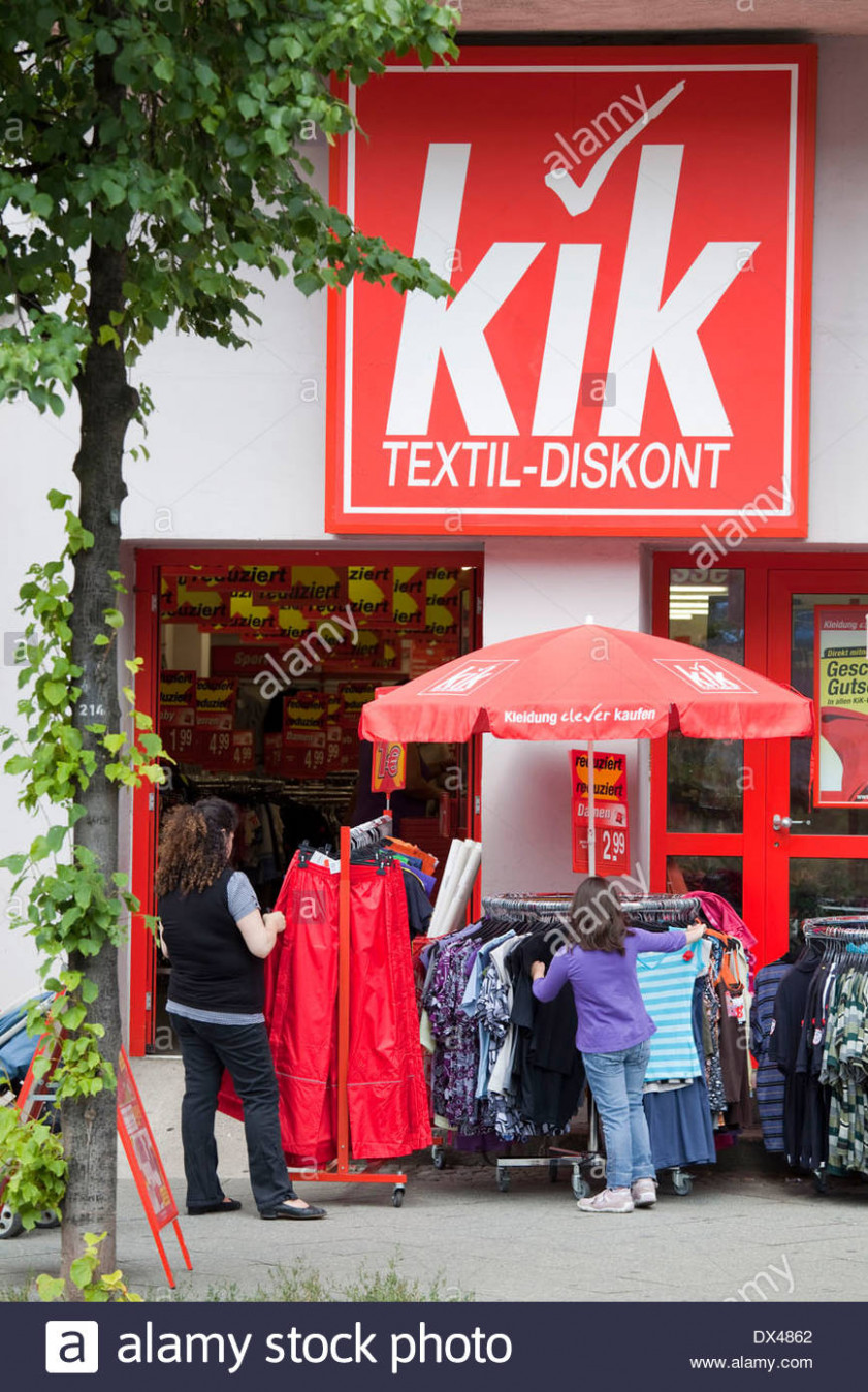 Kik Textil Discount High Resolution Stock Photography and Images