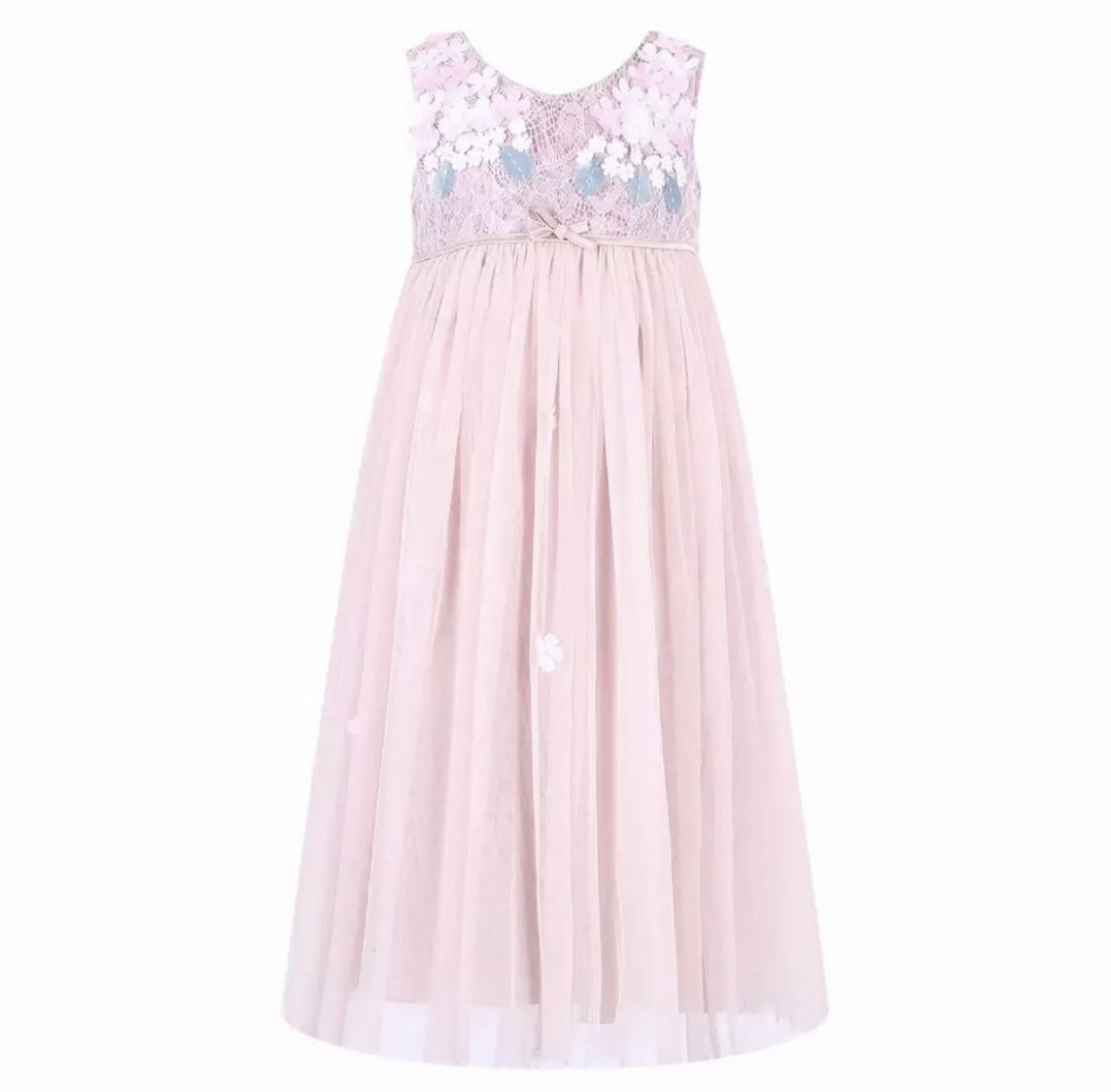 la petite surprise couture dress flowers rose spitzen mädchen sommerkleider