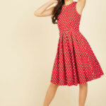 Lindy Hop And You Don't Stop A Line Dress In Red, @modcloth Red Lindy Hop Kleidung